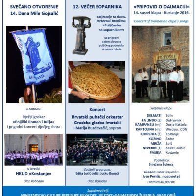 PROGRAM 14. DANA MILE GOJSALIĆ – Kostanje 2016.